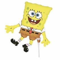 SpongeBob Folie Ballon Versiering op stokje 35cm