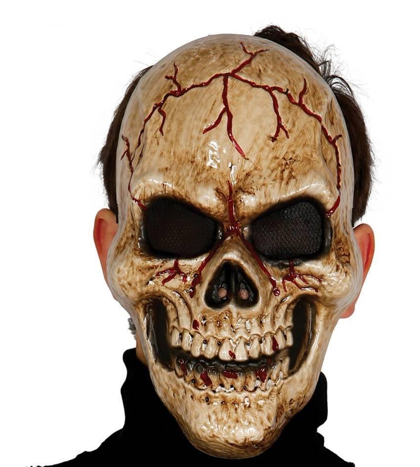 Halloween Masker.Halloween Masker Schedel Donker Voorkant Partywinkel Nl