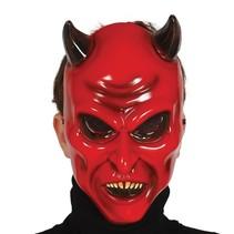 Halloween Masker Duivel Rood voorkant (K16-1-3)