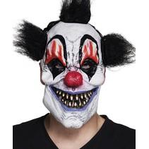Halloween Masker Clown met haar Deluxe voorkant (K16-3-1)
