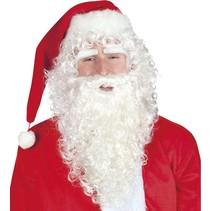 Kerstman Baard en Pruik lang