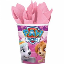 Paw Patrol Bekers Roze 266ml 8 stuks