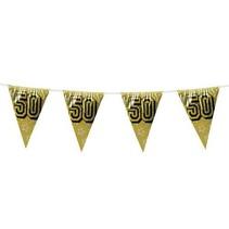 Slingers 50 Jaar Goud Glitter 8 meter (C7-5-4)