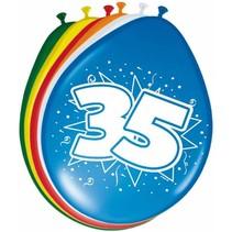 Ballonnen 35 Jaar 30cm 8 stuks