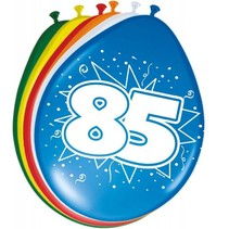 Ballonnen 85 Jaar 30cm 8 stuks (D2-8-4)