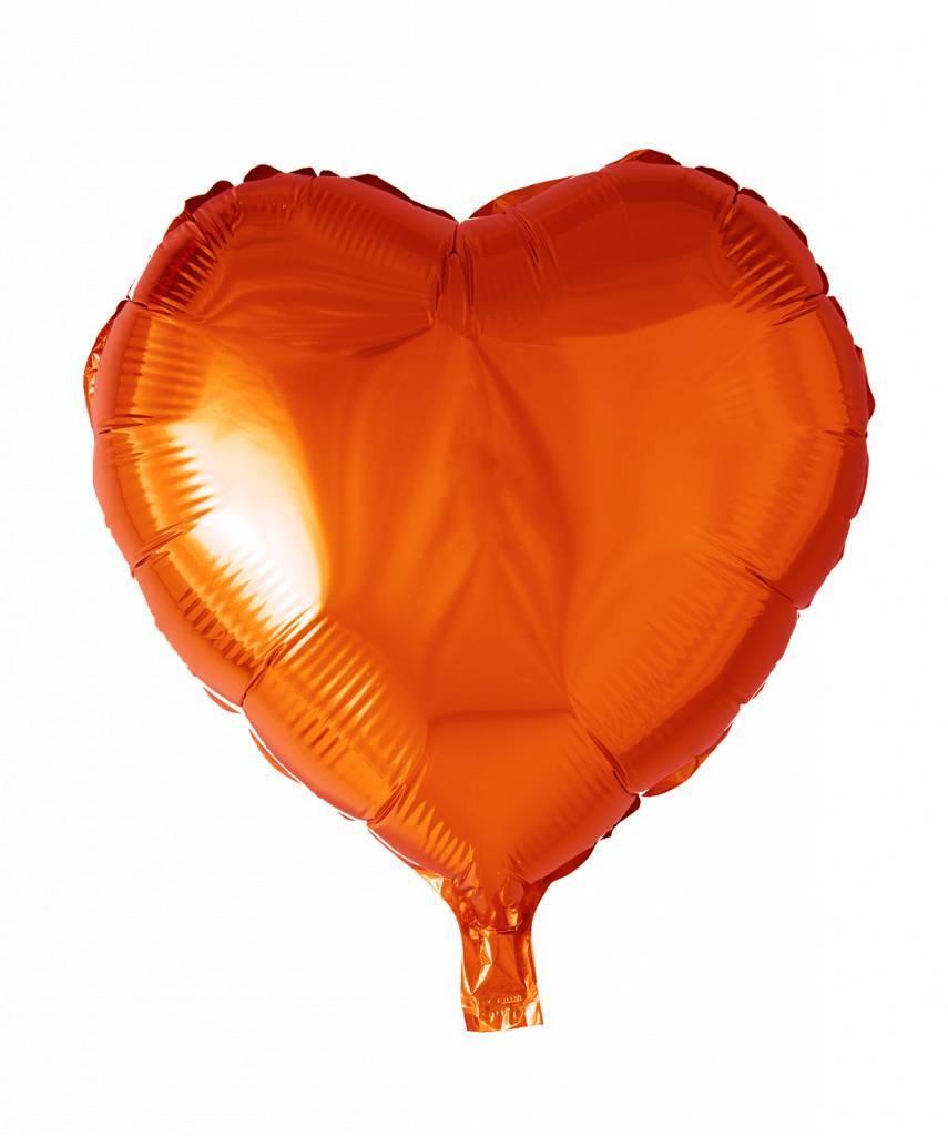 Helium Ballon Hart Oranje 46cm Leeg Partywinkelnl