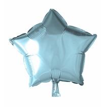 Helium Ballon Ster Lichtblauw 46cm leeg
