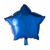 Helium Ballon Ster Blauw 46cm leeg