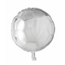 Helium Ballon Rond Zilver 46cm leeg