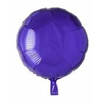 Helium Ballon Rond Paars 46cm leeg