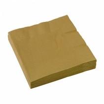 Gouden Servetten 33x33cm 20 stuks