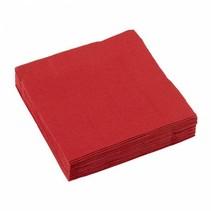 Rode Servetten 25x25cm 20 stuks