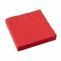 Rode Servetten 33x33cm 20 stuks