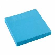 Lichtblauw Servetten 33x33cm 20 stuks