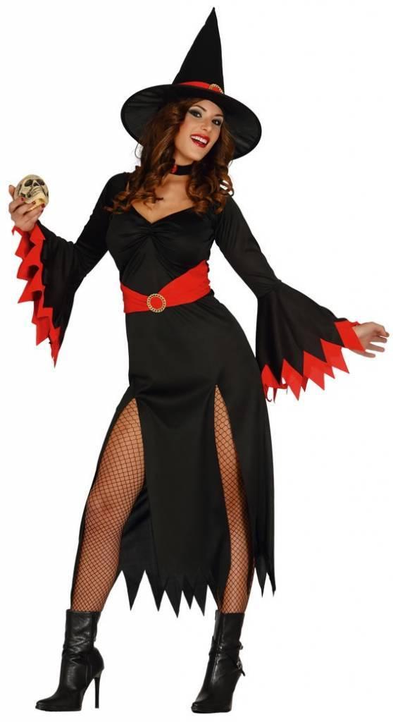 Halloween Kostuum Vrouw.Halloween Kostuum Dames Heks Rood