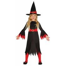 Halloween Kostuum Kind Heks Rood (L5-2-7)