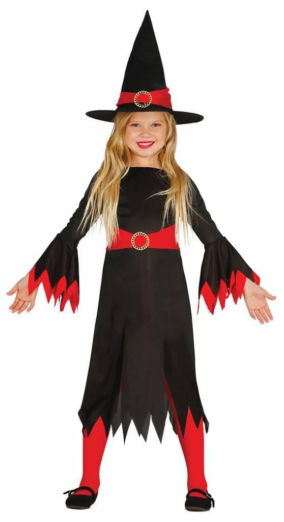 Halloween Kostuum.Halloween Kostuum Kind Heks Rood Partywinkel Nl