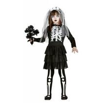 Halloween Kostuum Kind Jurkje Skelet (L5-2-5)