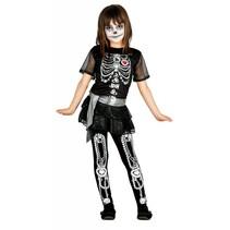 Halloween Kostuum Kind Jurkje Skelet Diamant (L5-2-4)