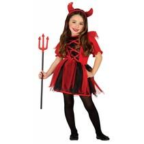 Halloween Kostuum Kind Duivel Meisje (L5-1-2)
