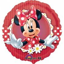 Minnie Mouse Helium Ballon Stippen 45cm leeg (E15-5-5)