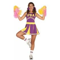 Cheerleader Kostuum Paars (M7-2-2)