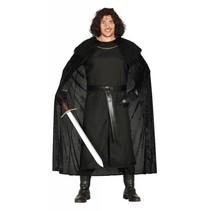 Middeleeuws Kostuum Leider Zwart (N6-3-4)