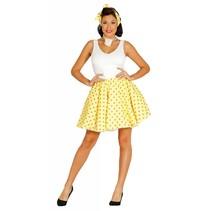 Grease Kostuum Set Geel 50's Dames (N1-3-3)