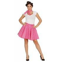 Grease Kostuum Set Roze 50's Dames (N1-3-2)
