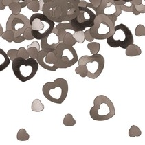 Tafelconfetti Hartjes Zilver 14 gram