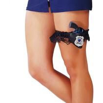 Politie Kousenband met Nep Geweer en holster