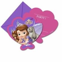 Sofia het Prinsesje Uitnodigingen 6 stuks