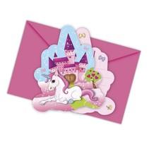 Unicorn Uitnodigingen Versiering 6 stuks