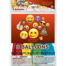 Emoji Ballonnen 30cm 8 stuks (G11-5-6)