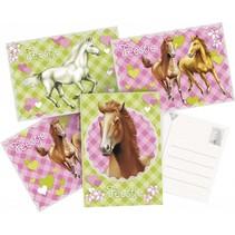 Paarden Uitnodigingen Party 6 stuks