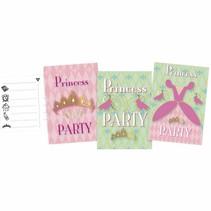 Prinsessen Uitnodigingen Party 6 stuks
