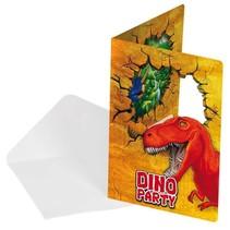 Dinosaurus Uitnodigingen 6 stuks (G9-3-2)