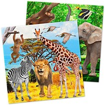 Dieren Servetten Safari 20 stuks