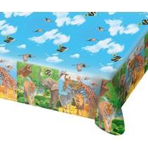 Dieren Tafelkleed Safari 180x130cm