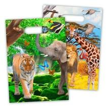 Dieren Uitdeelzakjes Safari 8 stuks