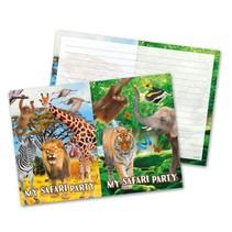 Dieren Uitnodigingen Safari 8 stuks