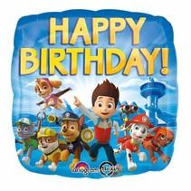 Paw Patrol Helium Ballon Happy Birthday 45cm leeg (F6-3-5)