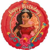 Elena van Avalor Helium Ballon Happy Birthday 45cm leeg