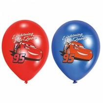 Cars Ballonnen Versiering 28cm 6 stuks
