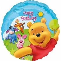 Winnie The Pooh Helium Ballon Happy Birthday 45cm leeg