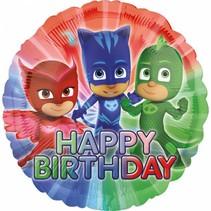 PJ Masks Helium Ballon Happy Birthday 45cm leeg