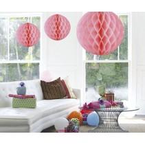 Honeycomb Bal XL Lichtroze 50cm
