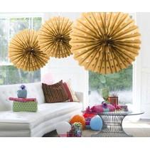 Honeycomb Waaier Goud 45cm