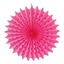 Honeycomb Waaier Neon Roze 45cm