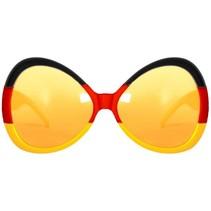 Zwart Rood Geel Bril XL